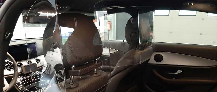 Beschermingswand-bescherming-chauffeurs